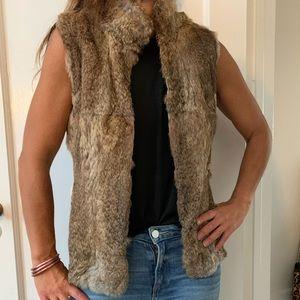 Michael Kors fur vest in natural/tan